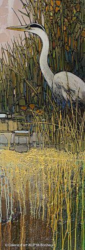 Jean-Pierre Guay, 'Fin septembre', 15'' x 43'' | Galerie d'art - Au P'tit Bonheur - Art Gallery