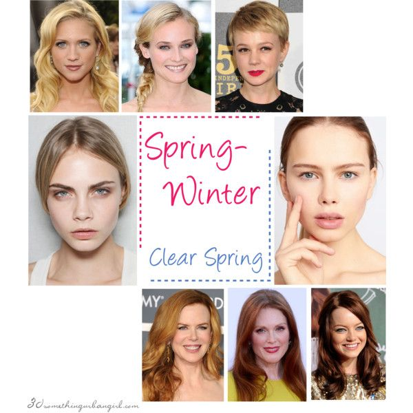 Spring-Winter (Clear Spring) colouring by thirtysomethingurbangirl on Polyvore #springwinter #clearspring #seasonalcolouranalysis