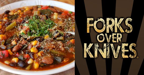 Southwestern Stew  from Forksoverknives.com  March 31, 2014  prevent and reverse disease with whole-food, plant based diet. Sound delish AND Healthy