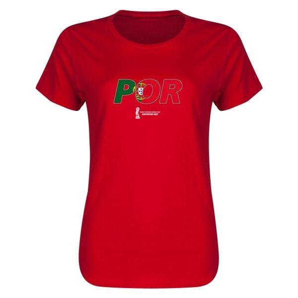 FIFA Beach World Cup Bahamas 2017 Portugal Womens T-Shirt (Red)