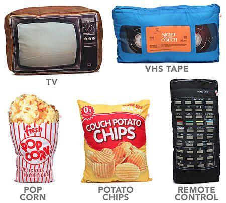 ThinkGeek :: Movie Night Accent Pillows