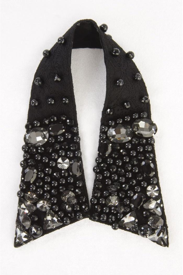 black crystals
