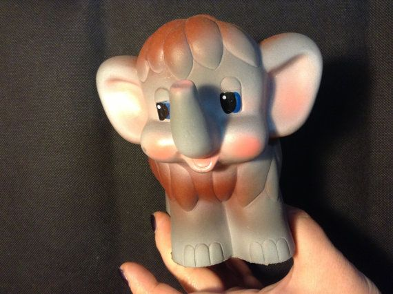 Elephant toy rubber. Russia USSR by RussiaVintage on Etsy