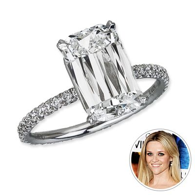 classic emerald cut: Reesewitherspoon, Reese Witherspoon, Band, Emerald Cut, Diamonds, Ree Witherspoon, Celebrity Engagement Rings, Jewelry, Emeralds Cut
