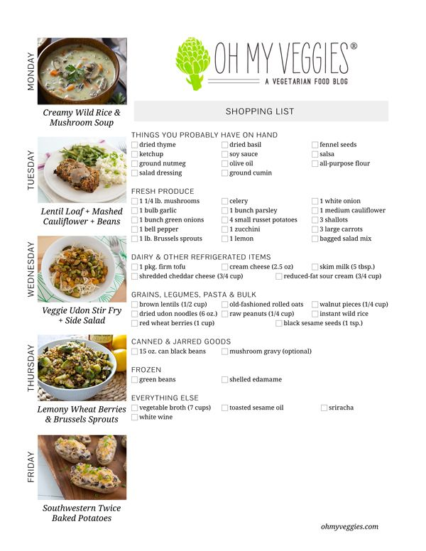74 best meatless meal planning images on pinterest vegan recipes this weeks meatless meal plan forumfinder Choice Image