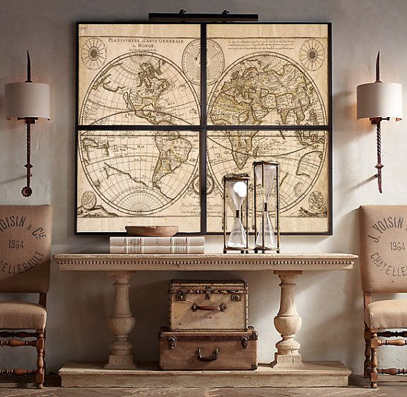 17 Best Ideas About Large Wall Art On Pinterest: 46 Best Images About World Map Ideas On Pinterest