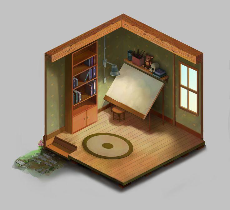 ArtStation - Room_01, Brian Deakin