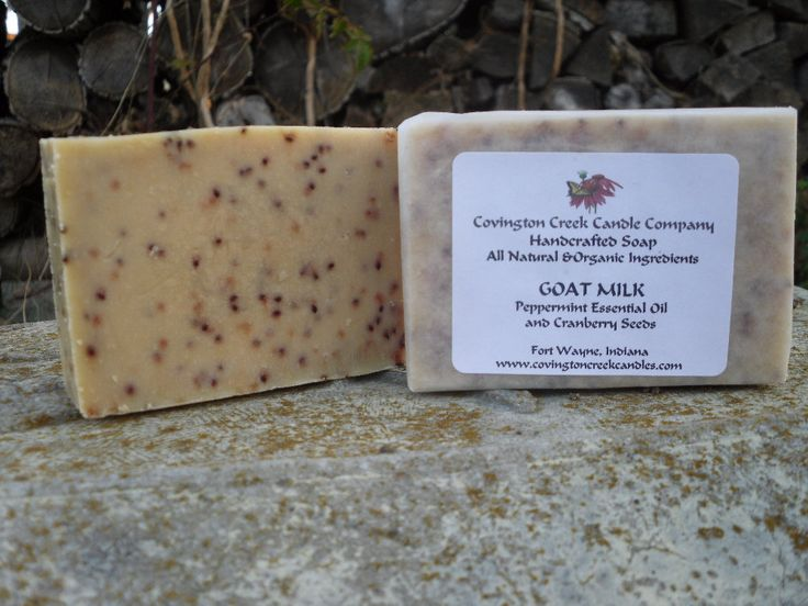 Peppermint Goat Milk Cranberry Seeds Cold Process Soap Natural and Organic Ingredients.  Stocking Stuffer, Holiday Gift, Secret Pal