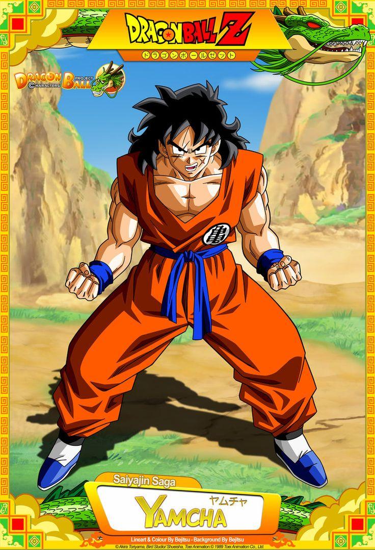 Dragon Ball Z - Yamcha Lineart and colour by ~Bejitsu Background By ~Bejitsu Card Design By & ~dbkai. Dragon Ball Z - Yamcha Akira, Geeks, Dragon Ball Z Shirt, Dragon Z, Kid Goku, Ball Drawing, Dbz Characters, Pokemon, Dragonball Z
