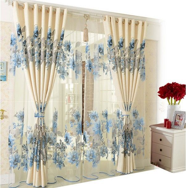 Home decoration curtains for windows jacquard cotton Burnt tulle curtain3 * 2.6m Custom curtains for living room bedroom curtain $138.99