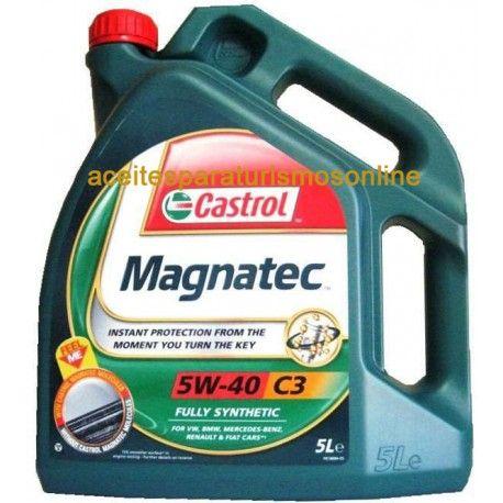 Aceite CASTROL Magnatec 5W40 C3 4L. 25.75€ Compra aceite para coche Madrid. aceitesparaturismosonline.com Tienda online de aceites para coche Marca. Castrol