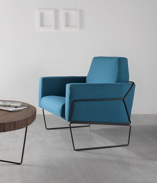 Upholstered fabric armchair GEMMA | Armchair by Altinox