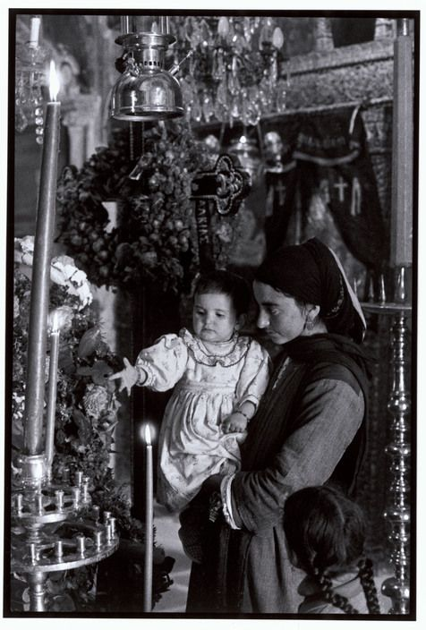 "GREECE. Karpathos. Olympos. 1964. In church. ""A Greek Portfolio"""