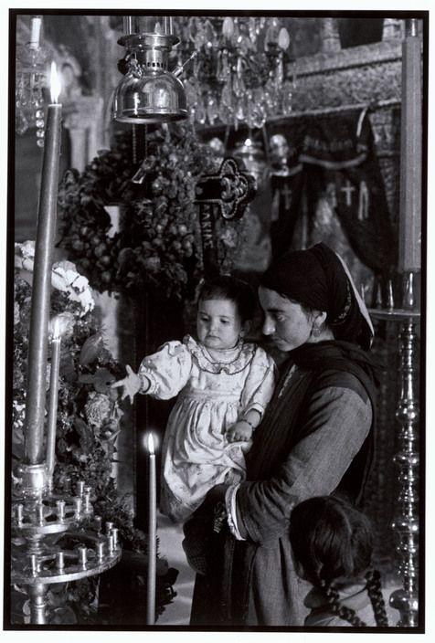 "GREECE. Karpathos. Olympos. 1964. In church. ""A Greek Portfolio"""