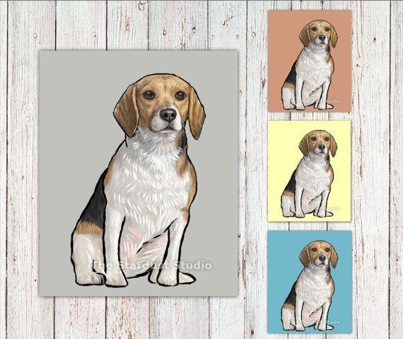 Beagle Fine Art Print 8x10 inch 12x16 inch by TheStardustStudio
