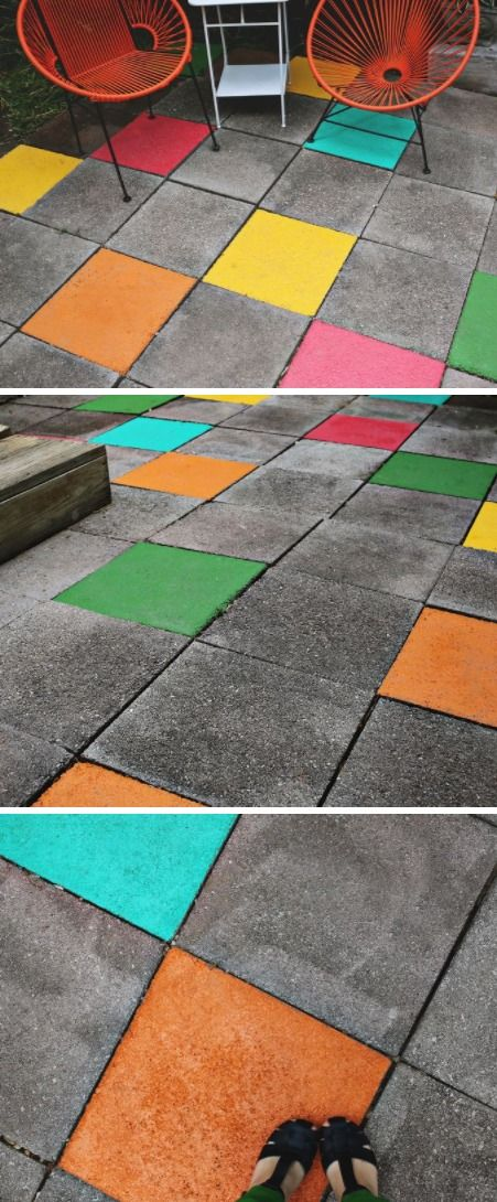 High Quality Looking For A Fun And Unique Way To Bring A Little Color Into Your  Backyard? Kilz FirstPatio TilesStone ...