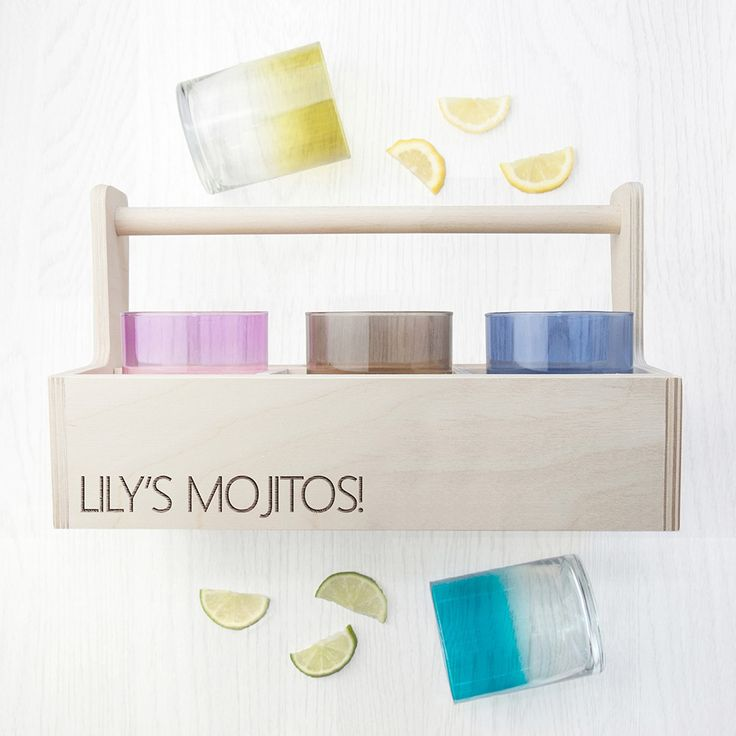 Personalised LSA Coloured Cocktail Tumbler Trug from yourgifthouse
