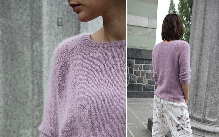 Classic angora sweater - Pickles    GUESS WHO IS KNITTING HER FIRST SWEATER?