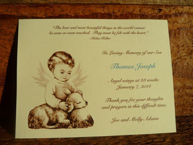 Bella Baby - Vintage Angel Baby Memorial Card, $0.99 (http://www.bellababy.com/vintage-angel-baby-memorial-card/)