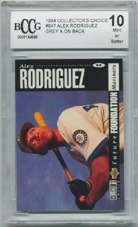 1994 Collectors Choice Alex Rodriguez Rookie Card Graded BCCG 10 by Collectors Choice. $15.95. 1994 Collectors Choice Alex Rodriguez Rookie Graded BCCG 10 by Beckett Grading Services.