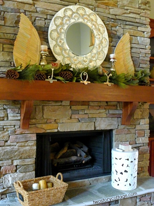 50 best diy mantels images on pinterest fireplace mantels mantles two story cottage christmas mantel silver and gold with diy angel wings solutioingenieria Choice Image