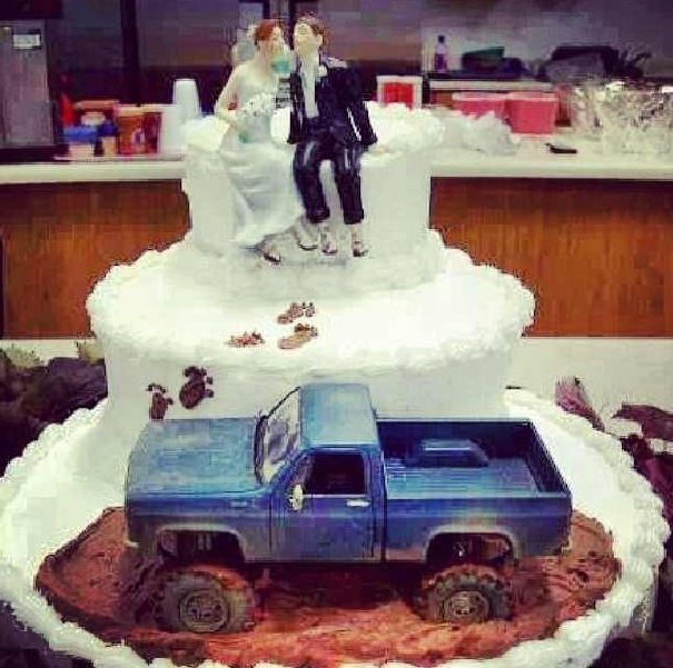 Mud Riding Wedding Cake