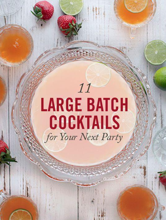 Large batch cocktails