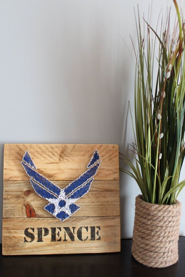 Air Force string art - military - retirement