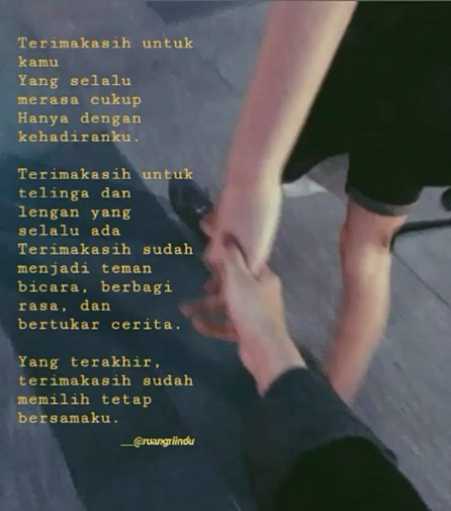 Kata Kata Terima Kasih Sudah Bersamaku