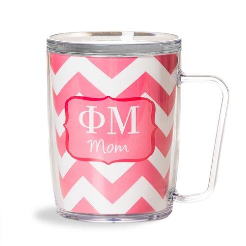Phi Mu Sorority Chevron Mom Mug www.sassysoroity.com #phimu #sorority #mothers day