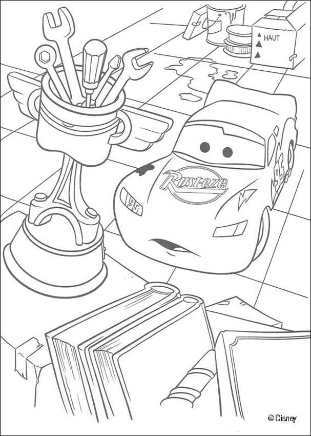 14 Disney Cars Coloring Pages