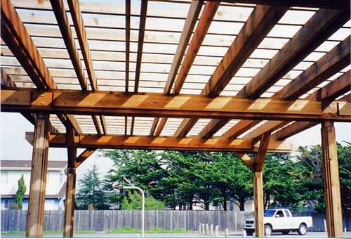 arbor carport abris en bois pinterest v los terrasse et le plan