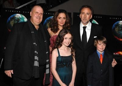 Nicolas Cage, Alex Proyas, Rose Byrne, Chandler Canterbury and Lara Robinson at event of Knowing