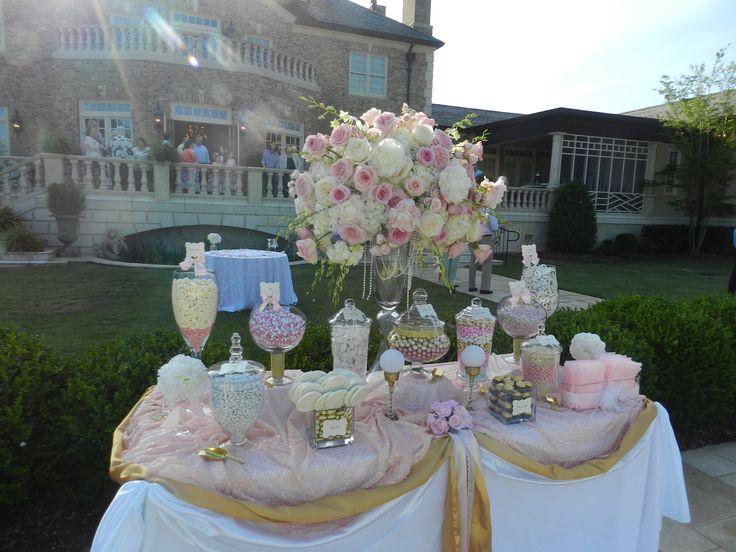 Sweet Jonesin Candy Buffet Blush Pink Amp Gold Candy Buffet