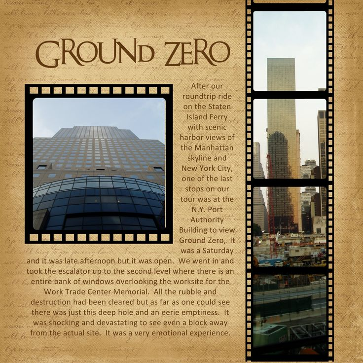 New York City - Ground Zero - Scrapbook.com