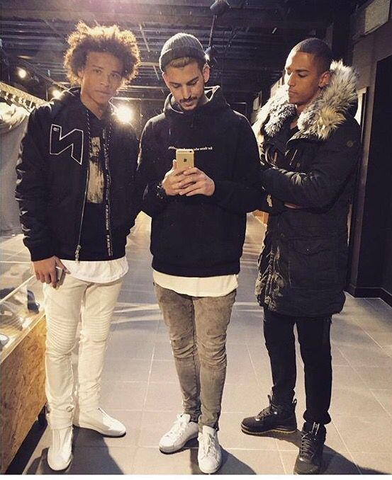 Leroy Sane (Schalke 04) in our N-Logo Bomberjacket! www.nobody-berlin.com
