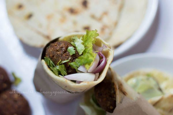 Culinary Xpress: Falafel Wraps