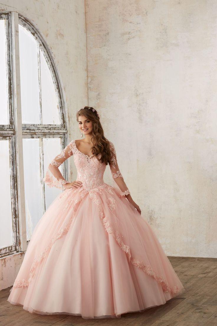 Koronkowy gorset, długi rękaw sukni balowej VIZCAYA Elegancka suknia balowa w stylu z wieku XVIII. Zdobiona dodatkową warstwą, wykończoną koronką …