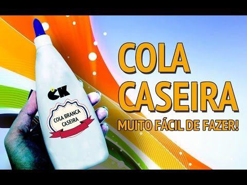Cola caseira para artesanato ## Fátima Paulista - YouTube