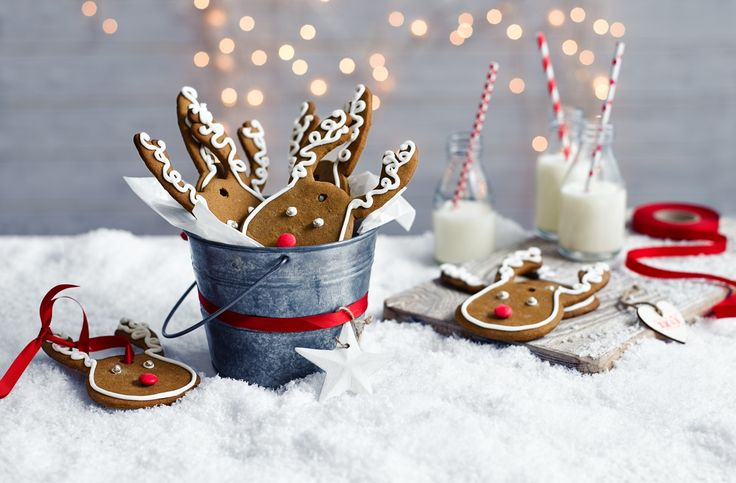 Try your hand at making these adorable gingerbread reindeer faces, perfect as…