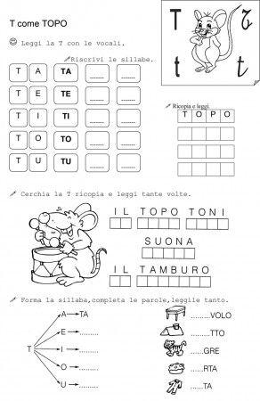 T DI TOPO CLASSE PRIMA