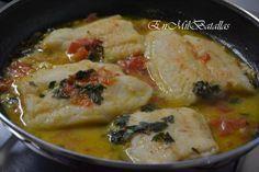 Pescado blanco en salsa  Ingredientes:  4 tajadas (unos 90gm cada una) del pescado blanco elegido un tomate de unos 250gm, maduro 3 dientes de ajo medianos 2-3 ramitas de perejil una copa de vino blanco semi seco aceite de oliva virgen extra sal