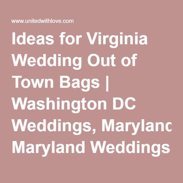 Virginia Wedding Gift Bag Ideas : ... Gift Bags