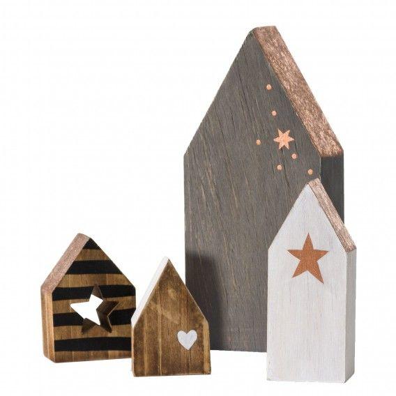 Objekt Small Houses (4-teilig) - Grau / Beige   Home24