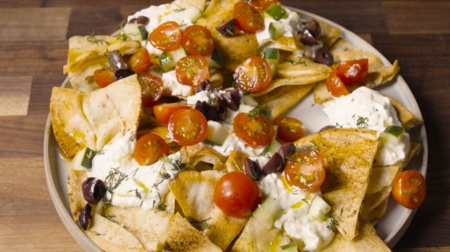 These Greek Nachos Have A Game-Changing Ingredient  - Delish.com