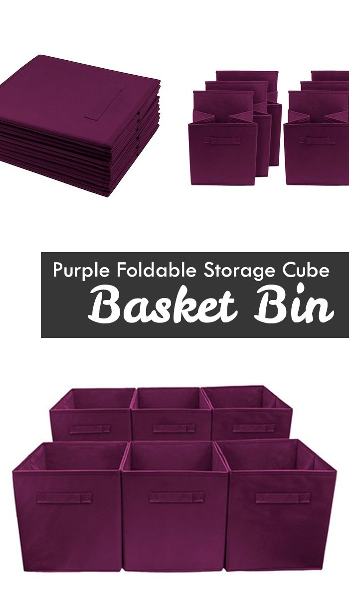 Perfect for organizing and cutting down on clutter, these Collapsible Storage Cubes add fun and functionality to your cube organizer! These fabric drawers easily side in and pull out of cube shelves thanks to their sewn in handles! Great for bedrooms, dorms, and playrooms! | kids playroom ideas | outdoor playroom | kid spaces #Ad