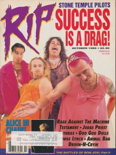 Stone Temple Pilots on the cover of RIP Magazine October 1993