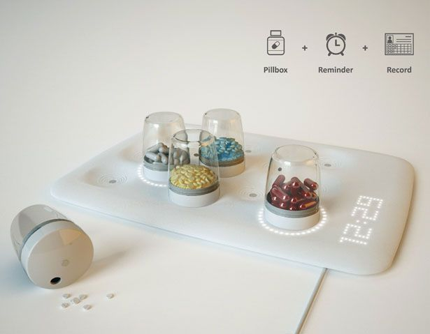 """EasyPill is an innovative medical system, which integrates a pill organizer- """"Pillpad""""- with the medical data base and App."""