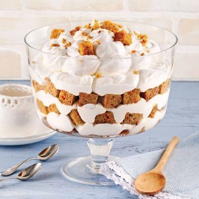 Bagatelle au gâteau aux carottes et crème d'érable - Recettes - Cuisine et nutrition - Pratico Pratique