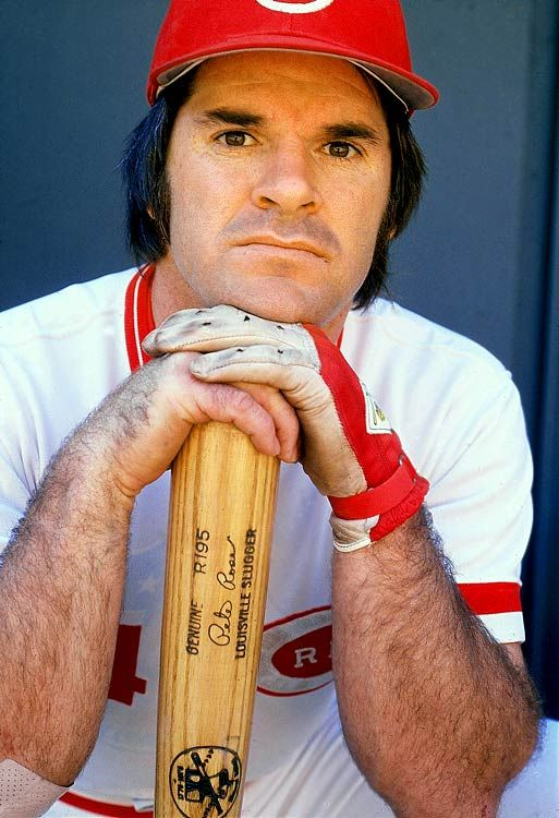 Pete Rose, Cincinnati Reds (Major league Baseball Player and Manager) Played from 1963 to 1986 and managed from 1984 to 1989. He won three World Series Rings, Three Batting Titles, Two Gold Gloves, One Most Valuable Player, Rookie of the Year, 17 all star appearances of five different positions - 2B, LF, RF, 3B, and 1B.